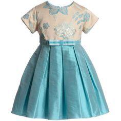 azul vestido - festa infantil princesa