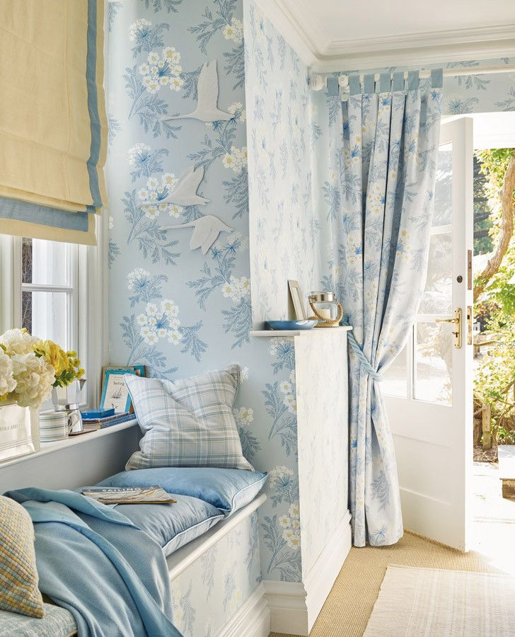 Sandford Seaspray Wallpaper | Laura ashley, Wallpaper and Upstairs hallway