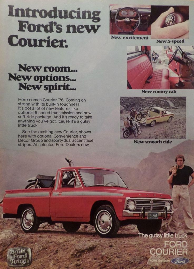 1976 Ford Courier Truck Ad Picture Print 75 76 77 79 Ranger F 250 Explorer | eBay