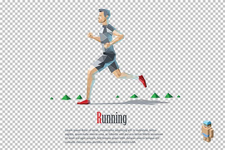 Vector running man  by lemonoff on @creativemarket