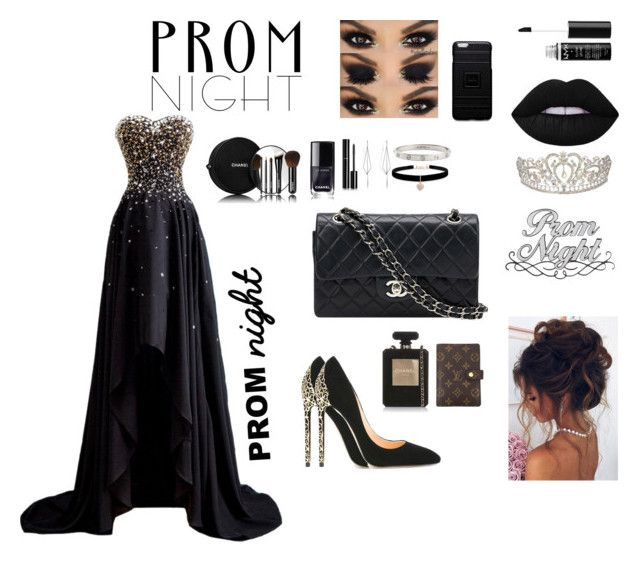"""PROM NIGHT"" by kayadolberg ❤ liked on Polyvore featuring Cerasella Milano, Chanel, Betsey Johnson, Diane Kordas, Cartier, Louis Vuitton, NYX, Native Union and Lala Berlin"