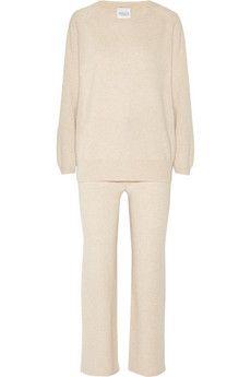 Madeleine Thompson Martha cashmere pajama set | NET-A-PORTER - https://www.net-a-porter.com/product/465728/Madeleine_Thompson/martha-cashmere-pajama-set