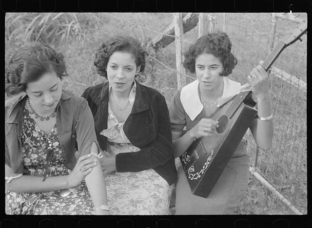 Creole girls, Plaquemines Parish, Louisiana