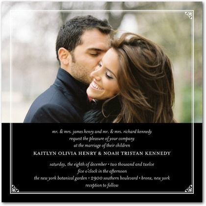 Incorporate a photo from your engagement photo session for a modern wedding invitation design.