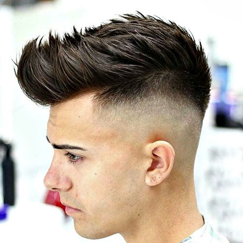 Textured Spiky Hair with High Bald Fade