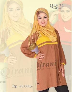 Baju Blus Rajut Wanita QD-74 Coklat