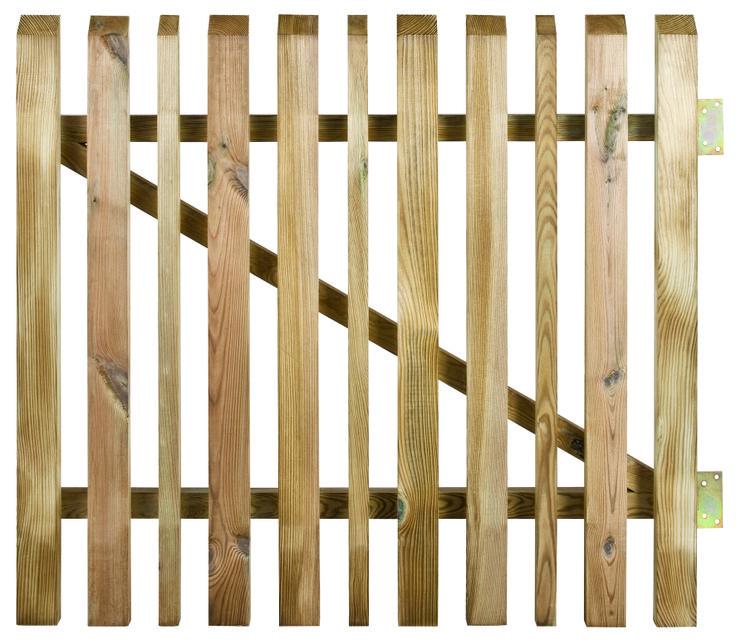 Portillon en bois Oblik à lames alternées by Burger.