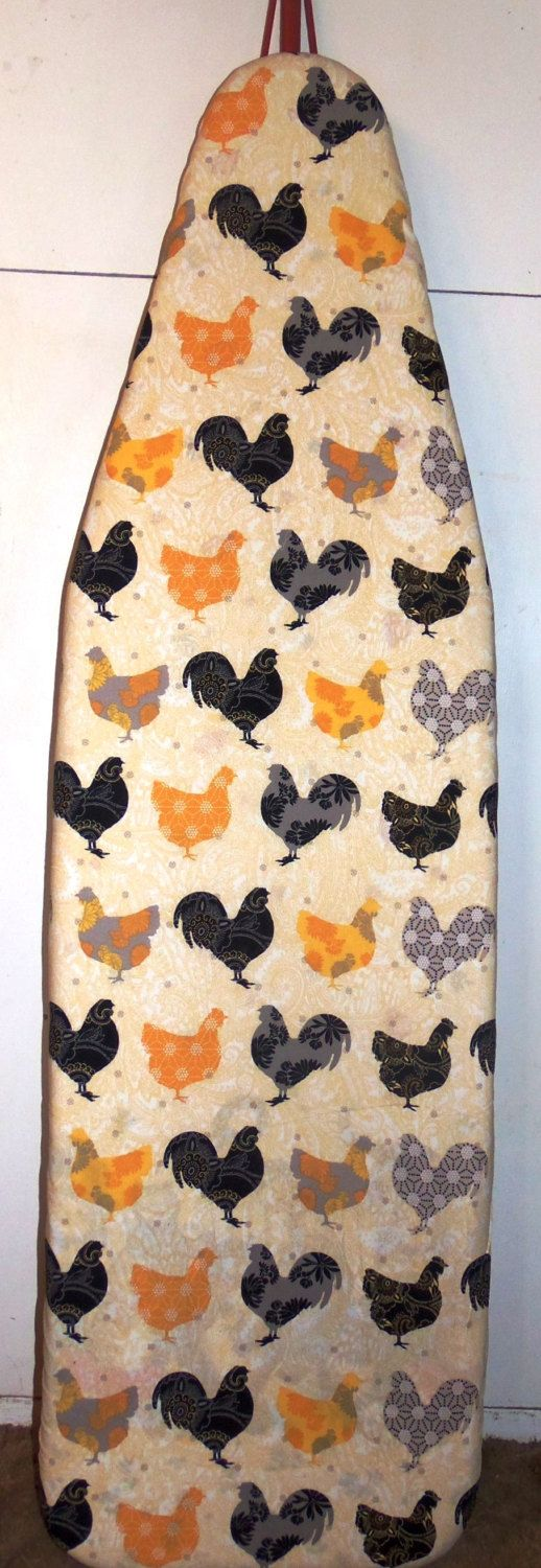 The Hens  Farmhouse Ironing board cover by Farmhouseclassic