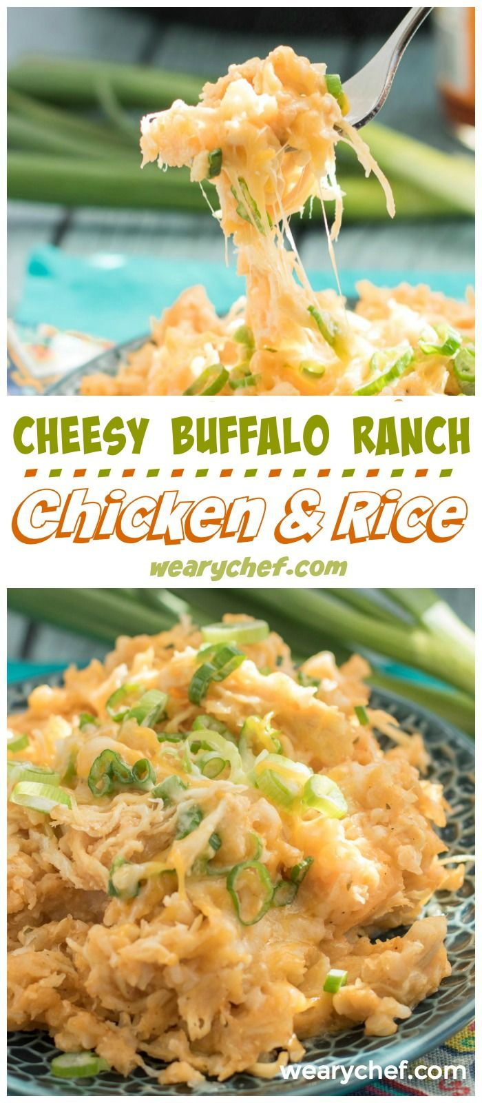 This Buffalo Ranch Chicken and Rice might be your new favorite dinner recipe! Only needs one pot and 30 minutes and always a family favorite!