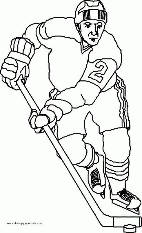 Pro Hockey player coloring pages