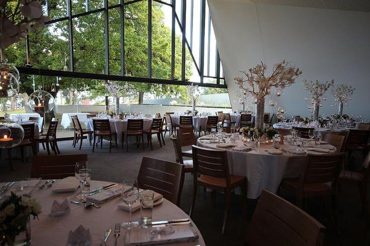 Wedding reception venue at Peppermint Bay, classic wedding table arrangement