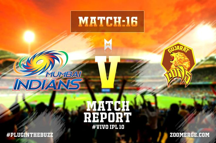 Vivo IPL 2017 Match 16- MI Vs GL: Mumbai go top of the table with another comprehensive victory