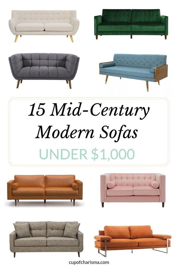 15 Best Mid Century Modern Sofas Under 1 000 Mid Century Modern