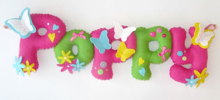 Personalised felt name banner. Just had to pin this one :P