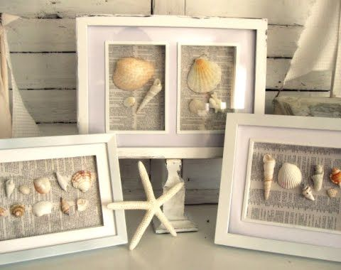 DIY seashell art with deep shadow boxes.
