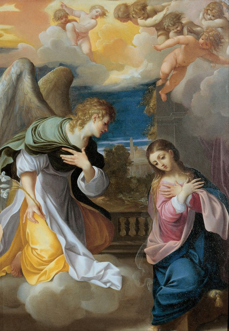 1555–1619 Ludovico Carracci, Annunciation -