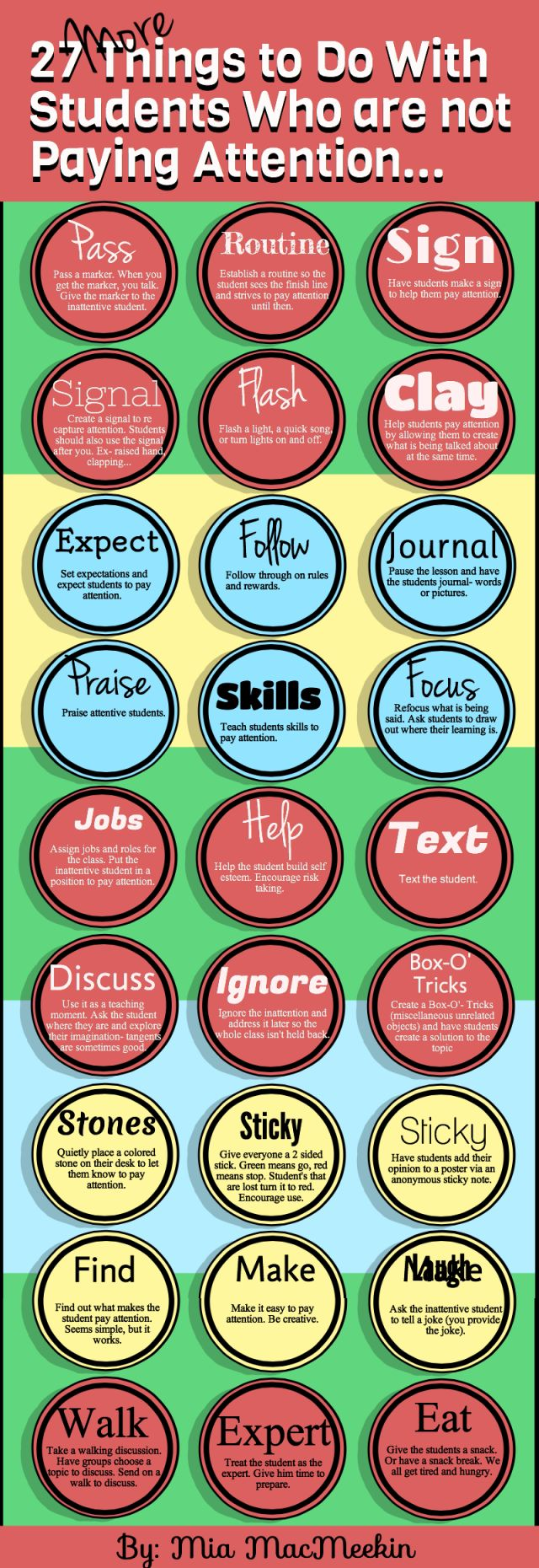27 more things to do with students who are not paying attention.
