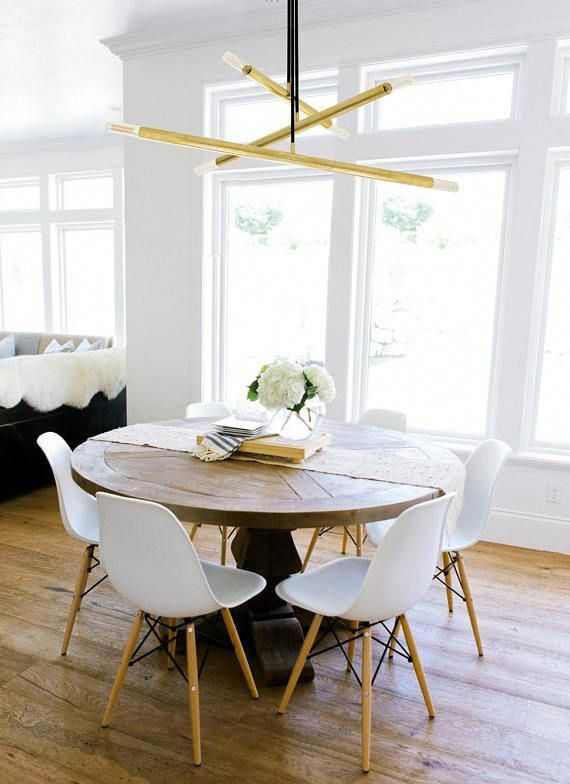 modern mid century gold chandelier lamp with multiple lights rh pinterest com