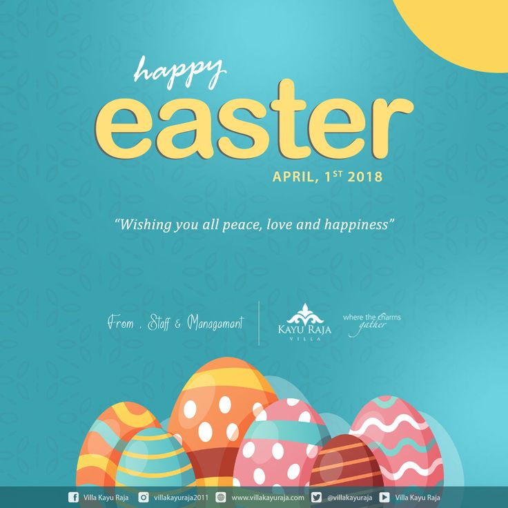 Happy Easter Day April 01, 2018 . Wishing you all peace, love and happiness . from : Staff & Management Villa Kayu Raja www.villakayuraja.com . . #easter #villakayuraja #privatepoolvilla #happy #easterday #holidayinbali #easterpackage #easterpromotion #seminyakvilla #balipromotion #travelling