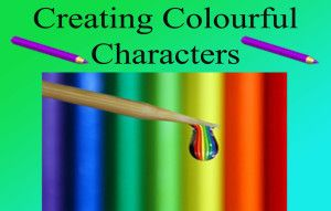 Make your fictional character pop with colour.
