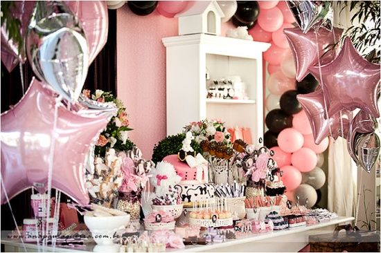 PInk and black POODLE IN PARIS PARTY- Kara's Party Ideas