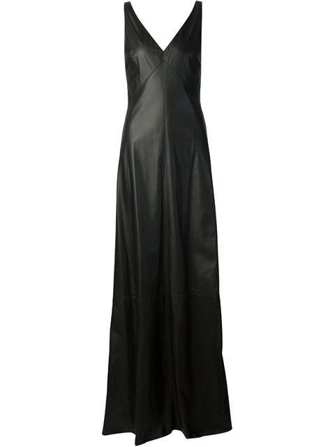 plunging neck gown