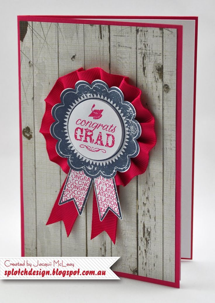 Card Making Ideas With Ribbon Part - 32: Splotch Design - Jacquii McLeay Independent Stampinu0027 Up! Demonstrator:  Graduation Cards · Blue RibbonDesign IdeasStampin ...