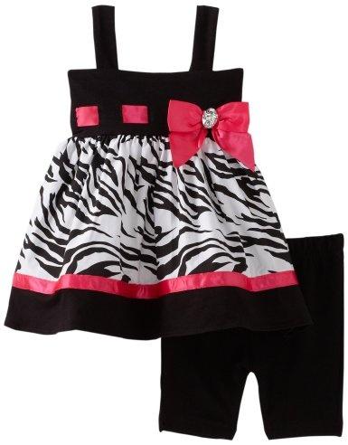 Sweet Heart Rose Baby girls Infant Zebra Bike Short Set