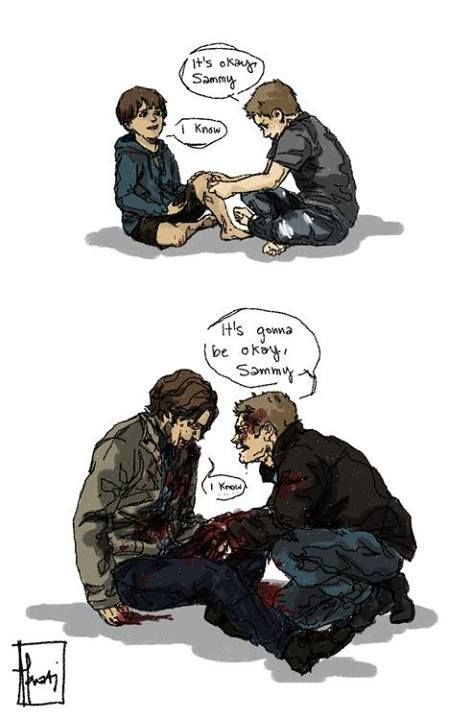 """""""It's ok, Sammy."""" Don't mind me...I'll just be over in that corner....crying... *cries forever*"""