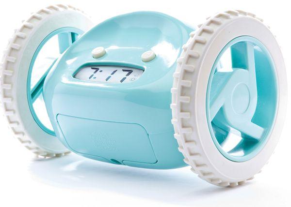 Clocky Aqua Rolling Alarm Clock.