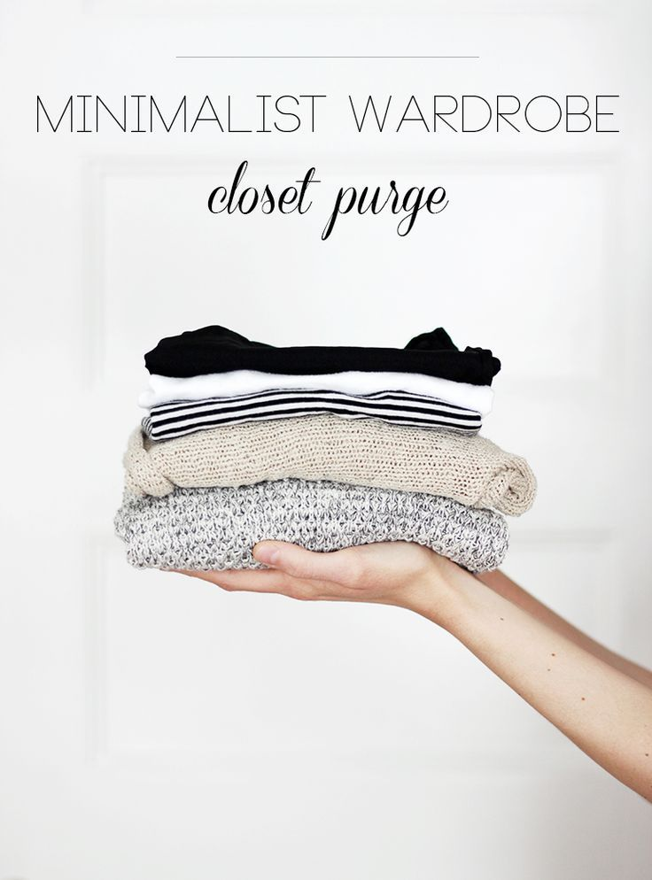 Minimalist Wardrobe: Closet Purge Tips @themerrythought