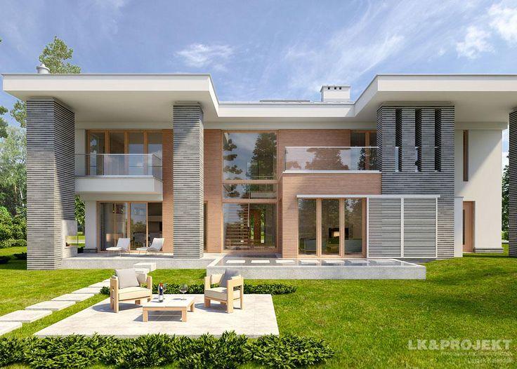 Projekty domów LK&Projekt LK&1070 wizualizacja 4