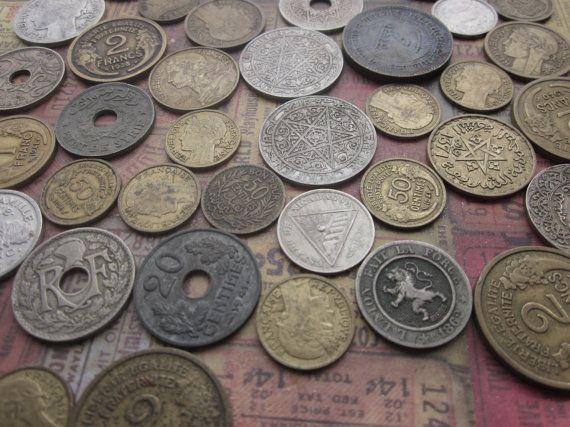 Vintage French Francs by CaityAshBadashery on Etsy