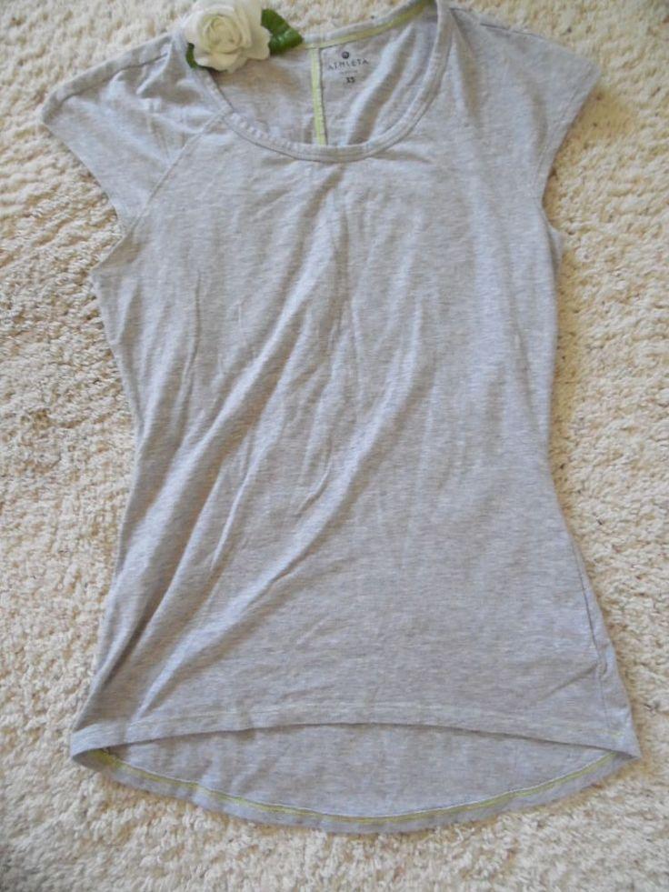 ATHLETA SUMMER TEE XS~ATHLETA RUN GYM YOGA STUDIO WORKOUT TOP FITTED XS~99%NEW #ATHLETA #ShirtsTops
