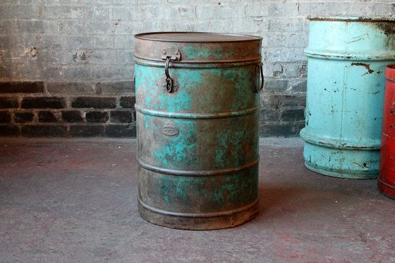 Vintage Old Rustic Worn Metal Turquoise by hammerandhandimports