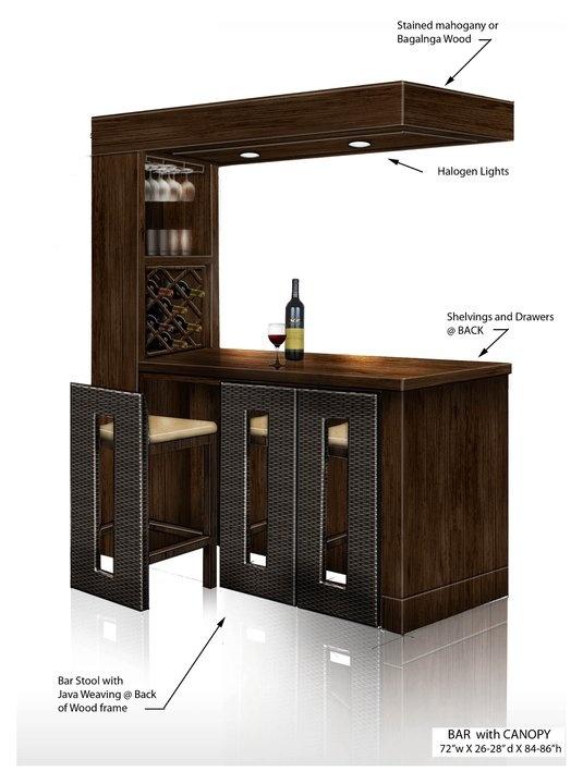 Modern Bar set space saver