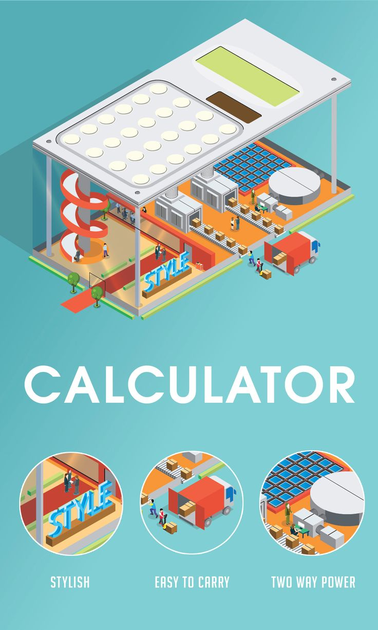 Isometric Calculator design by Jimmy Chang