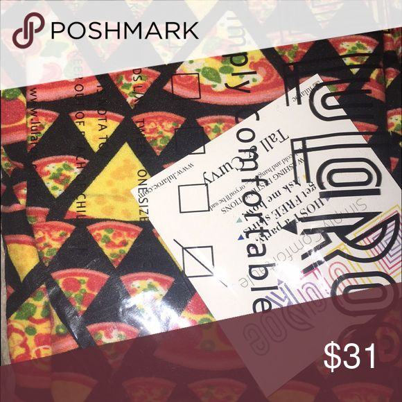 TC Lularoe pizza leggings Just received and wasn't too wild after they came :( LuLaRoe Pants Leggings
