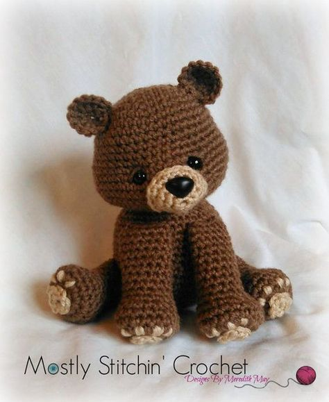 Bear Crochet Pattern Pdf Black Bear Brown Bear Polar Bear