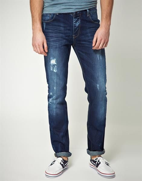 Как восстановить потертые джинсы