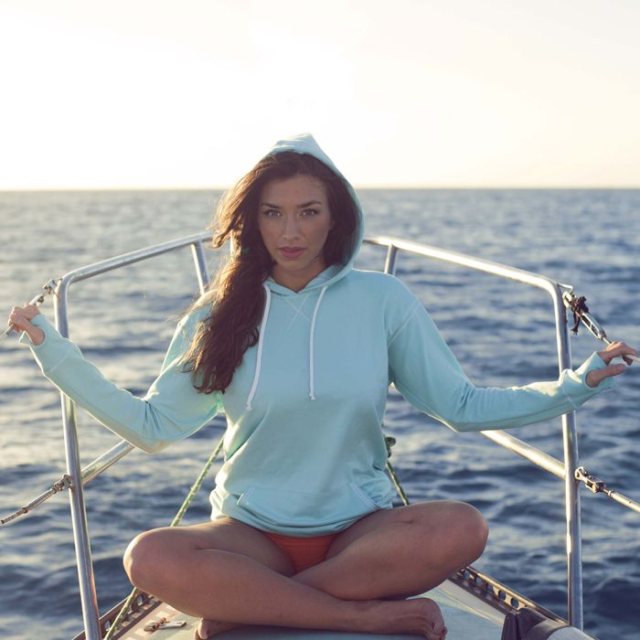 Signature Hoodie, Belize Blue: Blue Hoodie, Belize Blue, Workout Gears, Tiffany Blue, Albionfit Swimwear, Workout Attire, Cute Hoodie, Albion Fit, Signature Hoodie