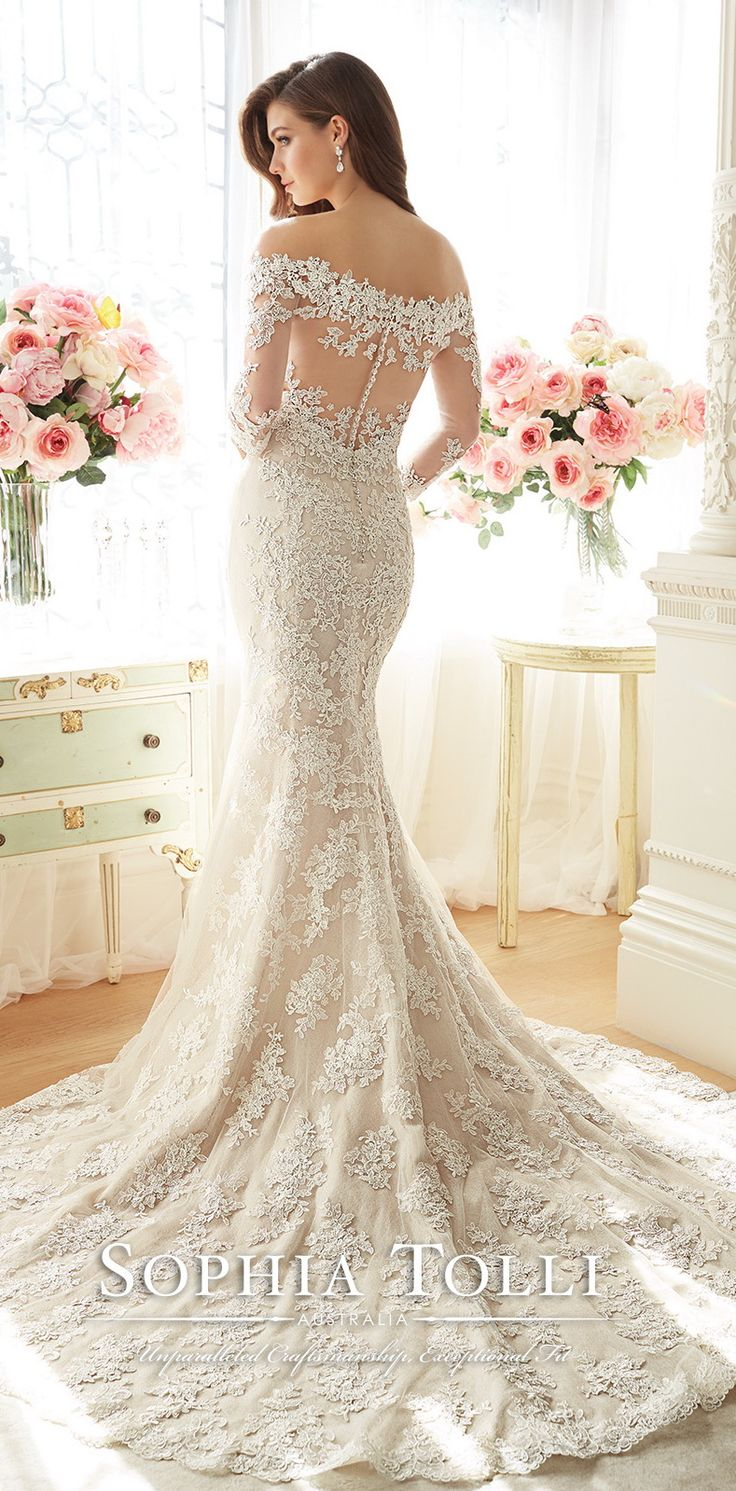 251 best wedding dresses images on pinterest tulle skirts sophia tolli spring 2016 mermaid lace wedding dress ombrellifo Choice Image