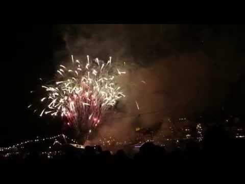 Vidéo Fogo de Artificio ( Feu d'artifice ) Sao Joao Porto 2015 - YouTube