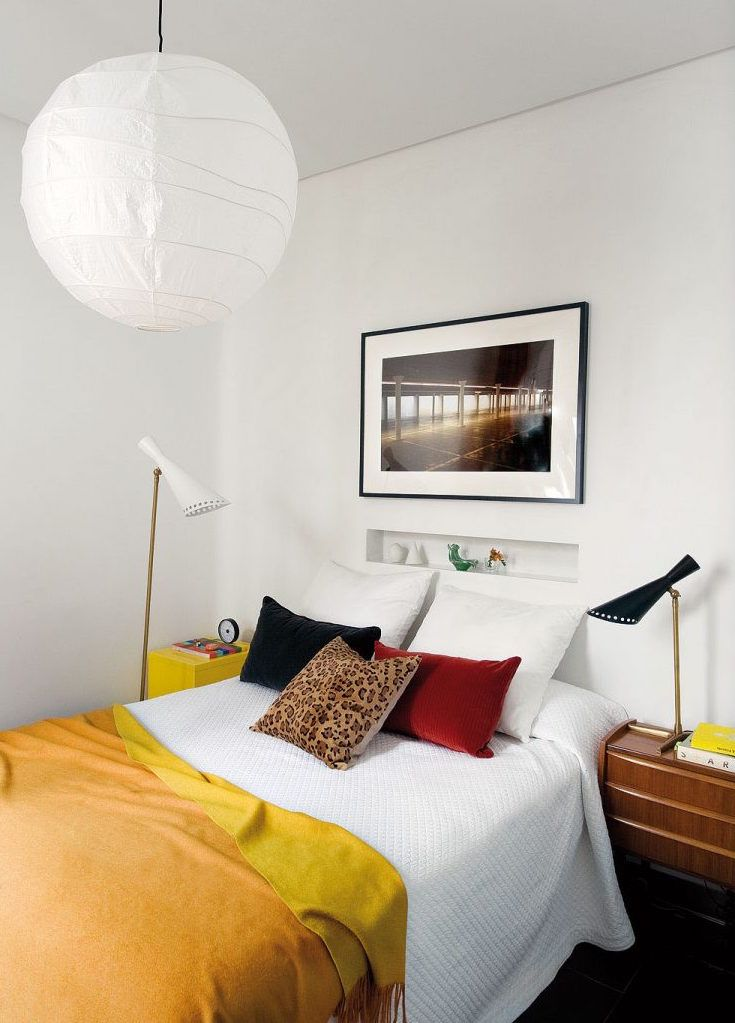 small bedroom ideas%0A Contemporary Sophisticated Apartment With an Eclectic Madrid Style  Small  Bedroom DesignsSmall