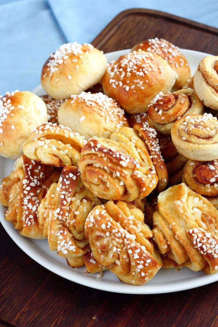 Suklaapossu: Toffeepullia ja kanelipullia rahkapullataikinasta (munaton) ❤