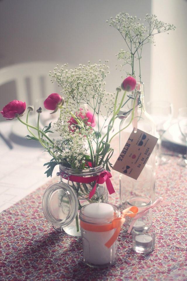 1000 id es sur le th me centres de table avec fleurs sur pinterest arrangem - Deco mariage bucolique ...
