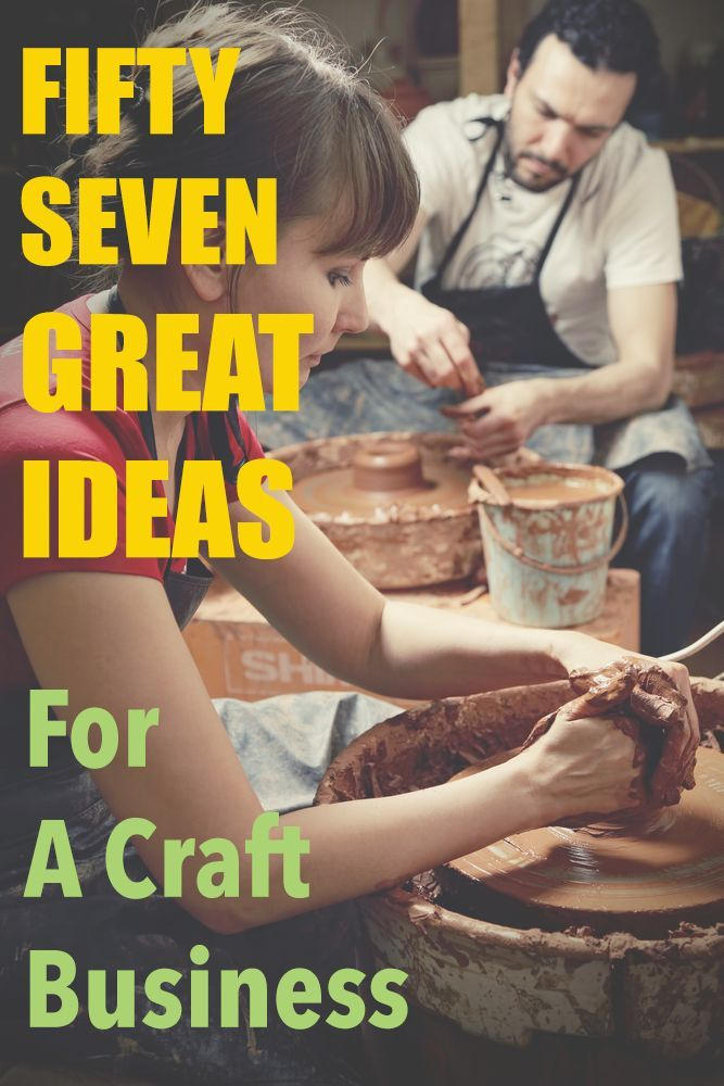 over 50 ideas for different kinds of craft businesses you can start easily from home