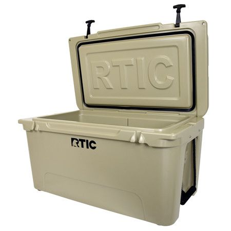 Shop RTIC 65 - Tan extremely well made. It ice face off with Yeti 65 the Rtic does better and it hold more stuff. I got the basket for it it nice, but we don't use it that much. I totally recommend this cooler. 5/5