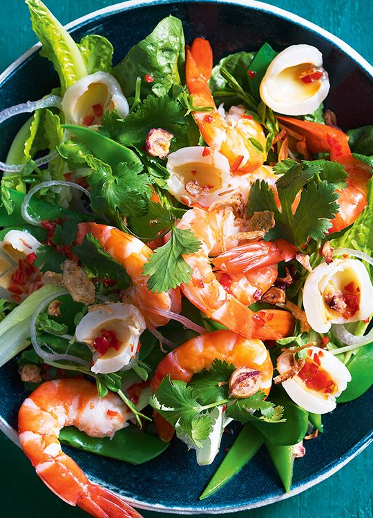 How to make Asian Prawn, Lychee & Coriander Salad