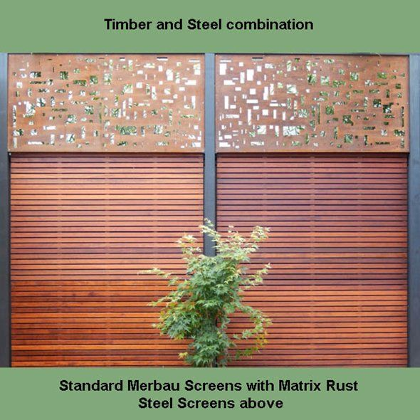 Timber Screening, Merbau Screening